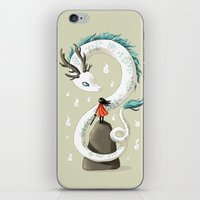 freeminds iPhone & iPod Skins featuring Dragon Spirit by Freeminds