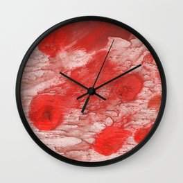 Red pink Wall Clock
