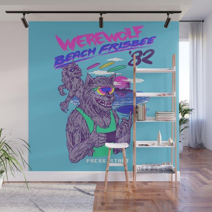 Werewolf Beach Frisbee Wall Mural