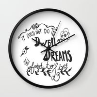 dumbledore Wall Clocks featuring Modern Harry Potter/Dumbledore Quote by Salty Books