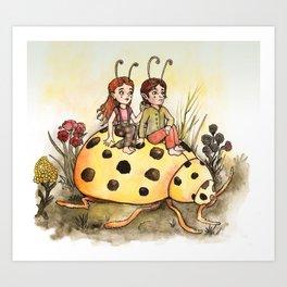 Ladybug Friends Art Print