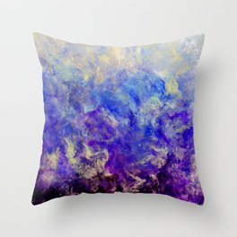 Lilac Sunset - Original Abstract Art by Vinn Wong Throw Pillow