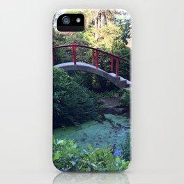 Red arched bridge at Kubota Garden iPhone Case