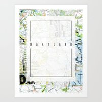 maryland Art Prints featuring Maryland by bonjourfrances