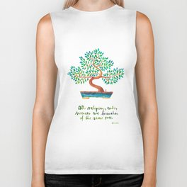 Einstein Tree Biker Tank