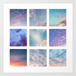 Cloud Grid 1 Art Print