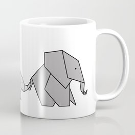 Origami Baby Elephant Coffee Mug