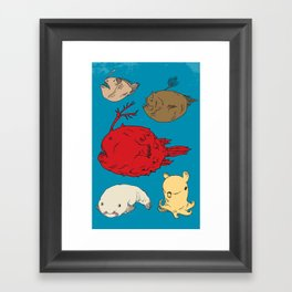 Creatures of the Deep Framed Art Print
