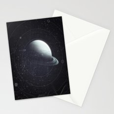 Space Sound Waves Stationery Cards