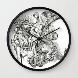 sabertooth & peacock Wall Clock