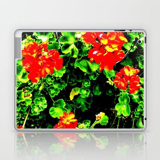 Red Flowers (Edited)  Laptop & iPad Skin