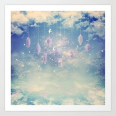 Crystals in the sky Art Print
