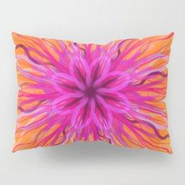 Abstract Pink Flower Pillow Sham