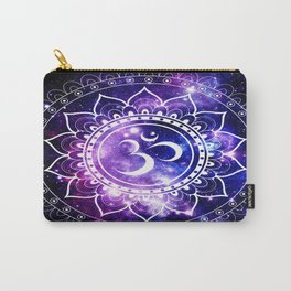 om mandala: purple blue space Carry-All Pouch