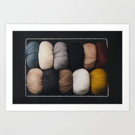 Warm Fuzzy Knits Art Print