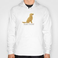 golden retriever Hoodies featuring Golden Retriever by 52 Dogs