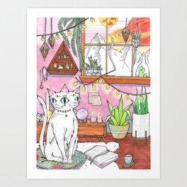 Gemini cat Art Print