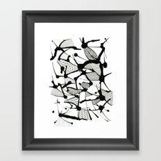 Ink Doodles Framed Art Print