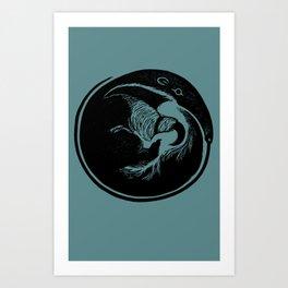 Anteater Block Print Art Print