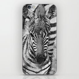 AnimalArtBW_Zebra_20170702_by_JAMColorsSpecial iPhone Skin