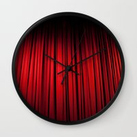theatre Wall Clocks featuring Theatre  by KClark Photography