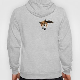 Watercolour and ink illustration of a fox Hoody