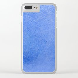 Azure watercolor Clear iPhone Case