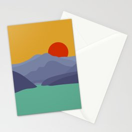 Gumi Mountain Sunrise Stationery Cards