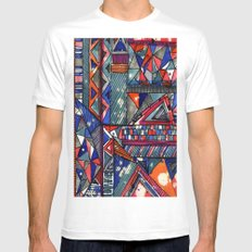Tribal Texture Mens Fitted Tee White MEDIUM