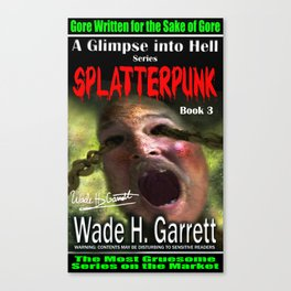 """Splatterpunk"" book cover art with signature Canvas Print"