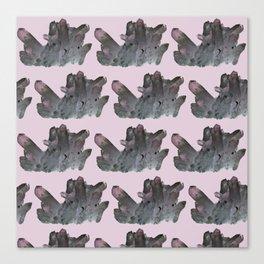 dark crystals, smokey purple and grey Canvas Print