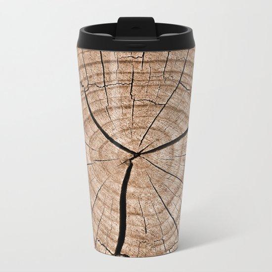 Tree Trunk Metal Travel Mug