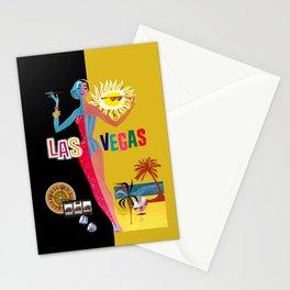 Loving Las Vegas   vintage black & gold Stationery Cards