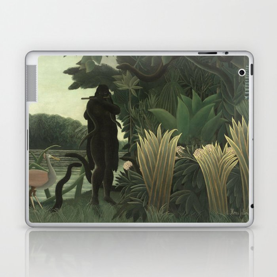 Henri Rousseau - The Snake Charmer Laptop & iPad Skin