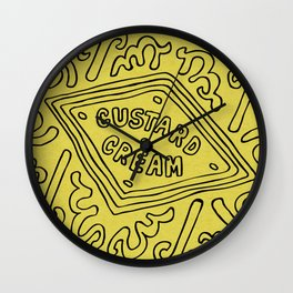 Custard Cream Wall Clock