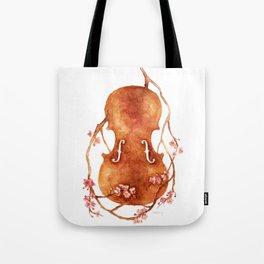 Sakura Violin Tote Bag