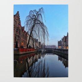 Belgium, City Canal 5 Poster