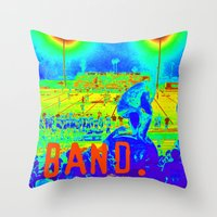 band Throw Pillows featuring BAND. by TMCdesigns