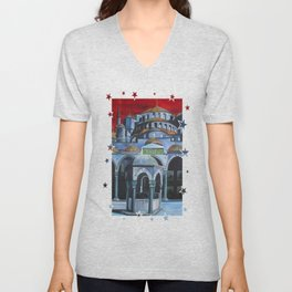 Sultan Ahmed Mosque, Istanbul  Unisex V-Neck