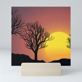 Creepy Sunset Mini Art Print