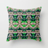 bamboo Throw Pillows featuring Bamboo by Zandonai Pattern Designs