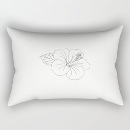 flower illustration Rectangular Pillow