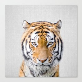 Tiger - Colorful Canvas Print