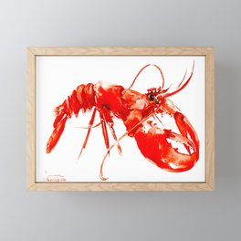 Red Kitchen Seafood Red Lobster design, art, painting Boston Framed Mini Art Print