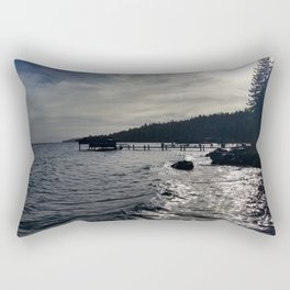 A Stormy Lake Tahoe Day Rectangular Pillow