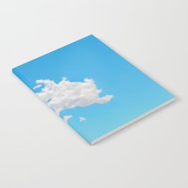 Pink Saguaro Against Blue Cloudy Sky Notebook