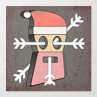 merry christmas Canvas Prints featuring Merry christmas by AmDuf