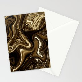 Black Coffee Marble Stationery Cards