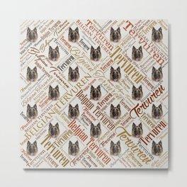 Belgian Tervuren Word Art Metal Print