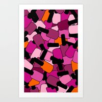 nail polish Art Prints featuring Nail Polish by ts55